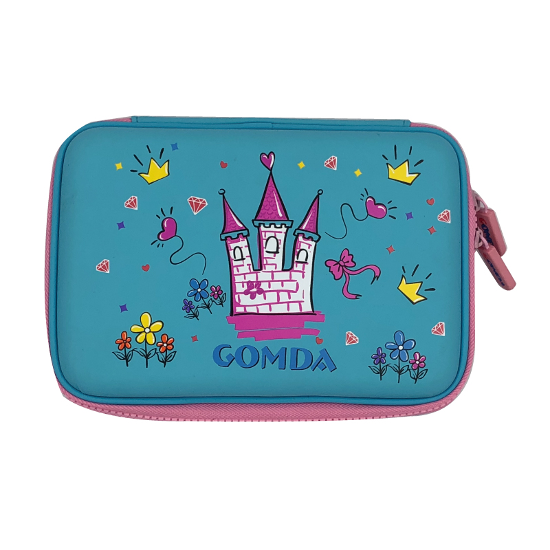 Cute EVA Pen Case for students with PU surface