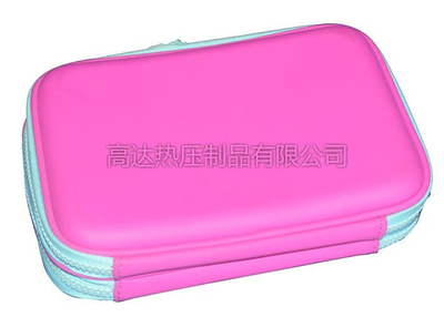 Molded Foam Hard EVA Pencil Case / Pencil Carrying Case Pink Color